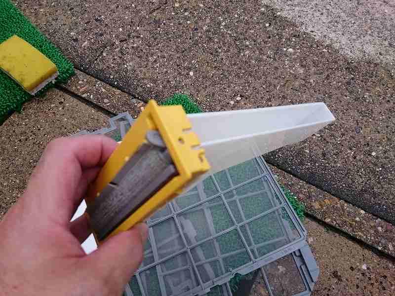 日立のお掃除機能付きエアコン白くまくんのホコリキャッチャー2