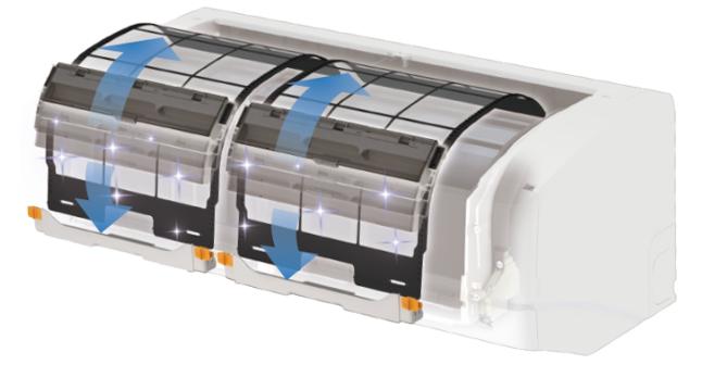ダイキンエアコンのフィルター自動お掃除機能はダストボックスごと移動