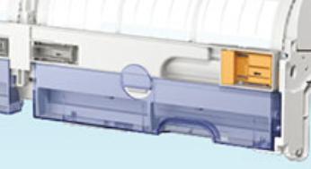 富士通ノクリアのお掃除機能のダストボックスは透明で中が見える