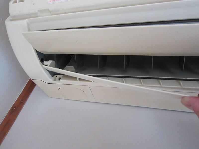 エアコン分解洗浄:ルーバーの取り外し方