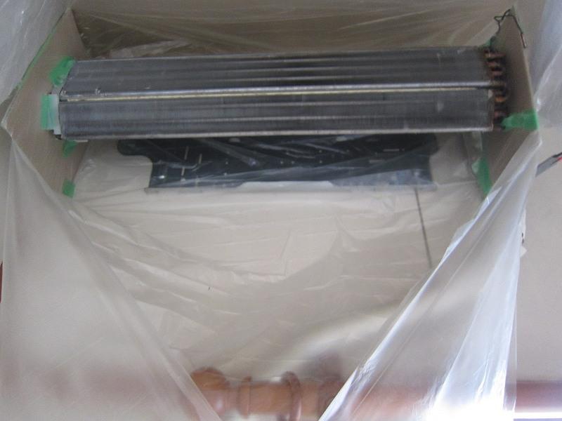 エアコンの分解掃除:養生のやり方